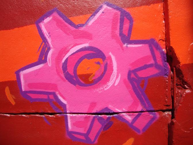 Graffitis le long du canal Saint-Denis (2/6)
