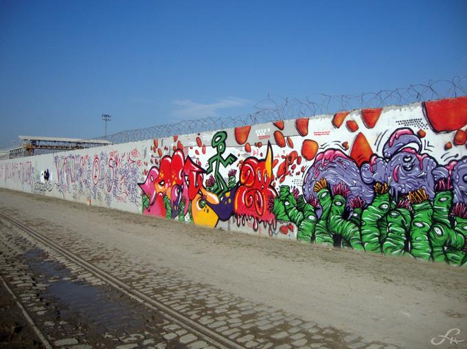 Graffitis le long du canal Saint-Denis (3/6)
