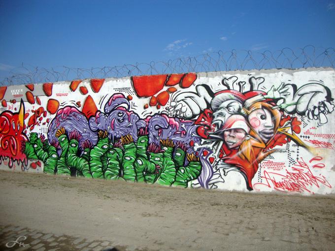 Graffitis le long du canal Saint-Denis (4/6)