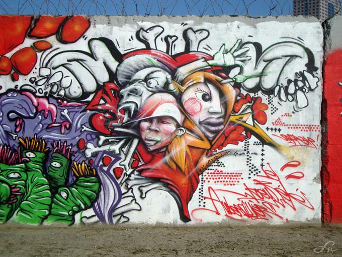 Graffitis le long du canal Saint-Denis (5/6)