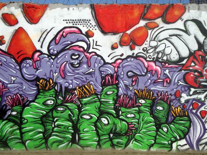 Graffitis le long du canal Saint-Denis (6/6)