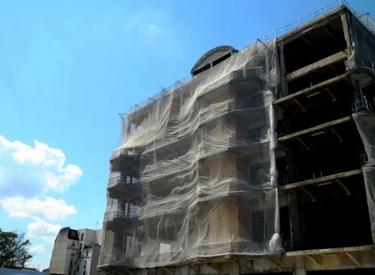 Bâtiment des Douanes de Pantin en restructuration, été 2014