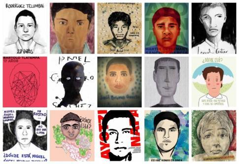 Sélection de portraits des étudiants disparus réalisés par des artistes mexicains - Ilustradores Con Ayotzinapa