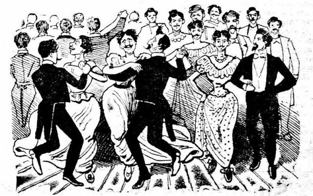 """""""El baile de los 41 maricones"""" - José Guadalupe Posada, 1852-1913"""